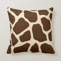 Giraffe Print Throw Pillow