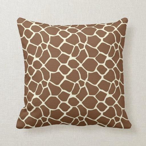 Giraffe Print Throw Pillows Zazzle