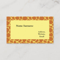 Giraffe Print two-sided Business Card