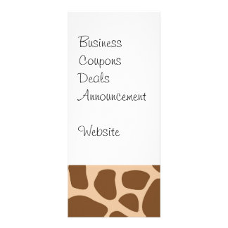 Giraffe Print Wild Animal Patterns Gifts for Her Rack Card Template
