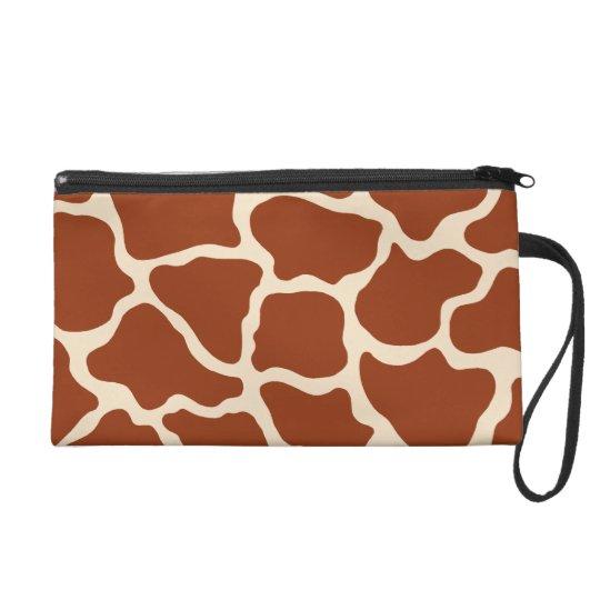 Giraffe Print Wristlet Bag