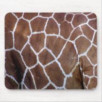 Giraffe prints, skin mouse pad