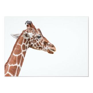 Giraffe profile 5x7 paper invitation card
