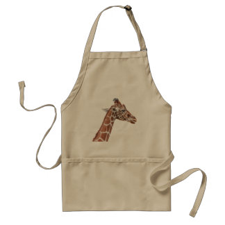 Giraffe profile adult apron
