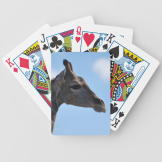 Giraffe profile bicycle playing cards