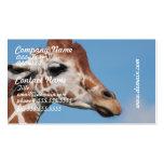 Giraffe Profile Business Cards