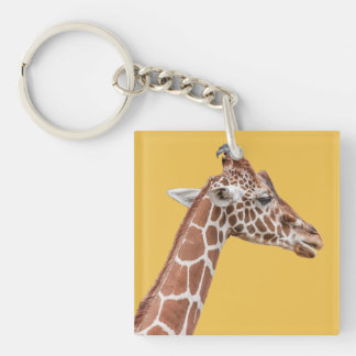Giraffe profile keychain