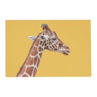 Giraffe profile laminated placemat