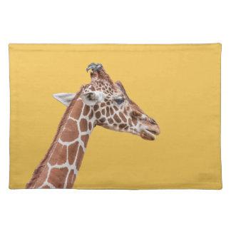 Giraffe profile cloth placemat