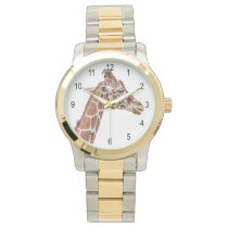 Giraffe profile wrist watch
