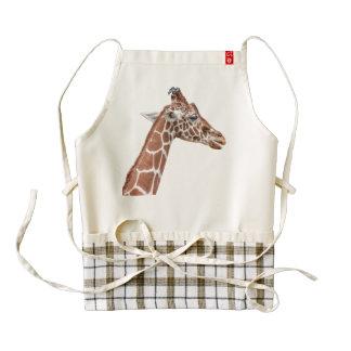 Giraffe profile zazzle HEART apron