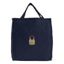 Giraffe Purse Embroidered Tote Bag