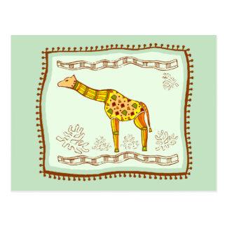 Giraffe Quilt Postcard