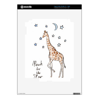 giraffe reach for the star skins for the iPad 2