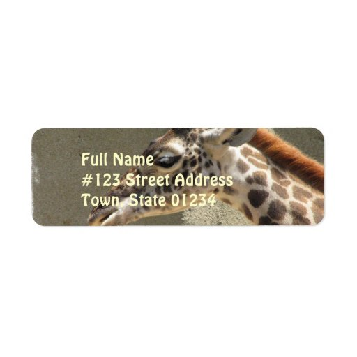 Giraffe Return Address Label
