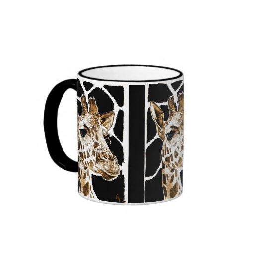 giraffe ringer coffee mug