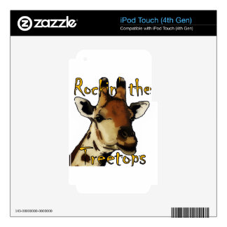 Giraffe_Rockin' the Treetops Skins For iPod Touch 4G