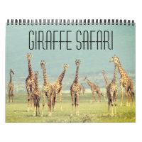 giraffe safari 2021 calendar