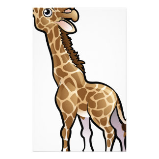 Giraffe Safari Animals Cartoon Character Stationery
