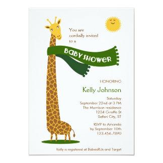 Giraffe Safari Baby Shower Invitation