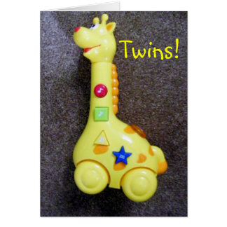 GIRAFFE SAYS CONGRATS-TWINS CARD