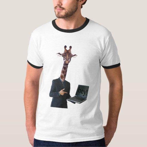 giraffe says hey tee shirt