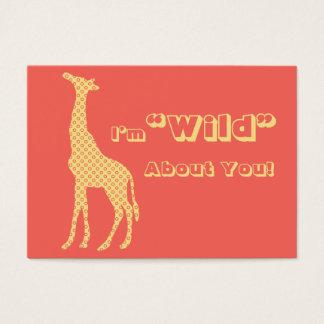Giraffe School Kids Valentines Day Cards in Bulk