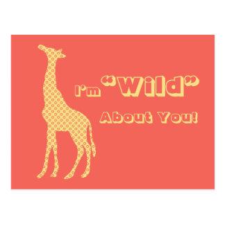 Giraffe School Kids Valentines Day Postcard