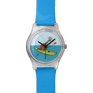 Giraffe sea kayaking wrist watch
