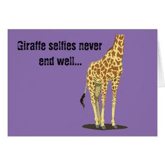 Giraffe selfies never end well... greeting card