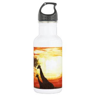 Giraffe Silhouette 18oz Water Bottle
