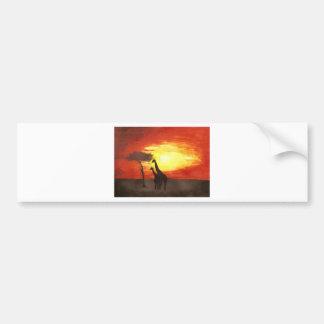 Giraffe Silhouette Car Bumper Sticker