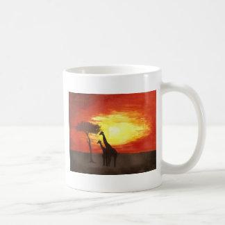 Giraffe Silhouette Classic White Coffee Mug