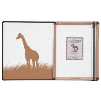 Giraffe Silhouette in Tan Case