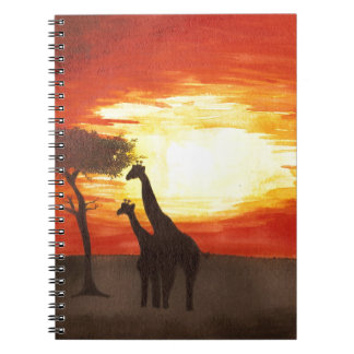 Giraffe Silhouette Notebooks