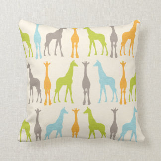 Giraffe Silhouette Nursery Pillow