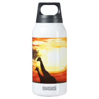 Giraffe Silhouette 10 Oz Insulated SIGG Thermos Water Bottle