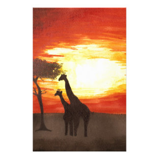 Giraffe Silhouette Stationery