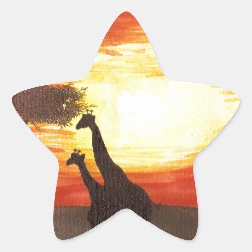 Giraffe Silhouette Sticker