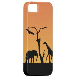 Giraffe silhouette sunset iphone 5 case barely