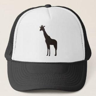 Giraffe silhouette trucker hat