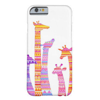 Giraffe Silhouettes in Colorful Tribal Barely There iPhone 6 Case