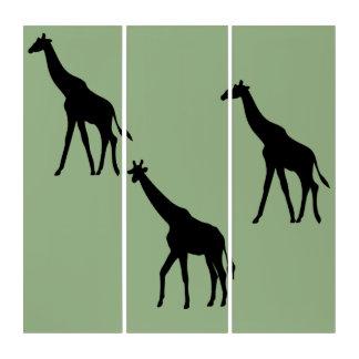 Giraffe Silhouettes Triptych