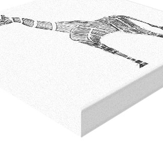 Giraffe Sketch Canvas Print