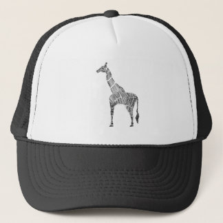 Giraffe Sketch Trucker Hat