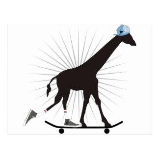 Giraffe skills postcard