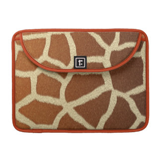 giraffe skin animal fur fun sleeve for MacBook pro