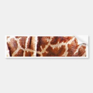Giraffe Skin_ Bumper Sticker