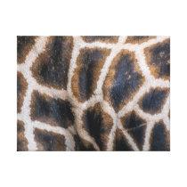Giraffe skin pattern canvas print