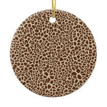 Giraffe Skin Pattern Design Ceramic Ornament